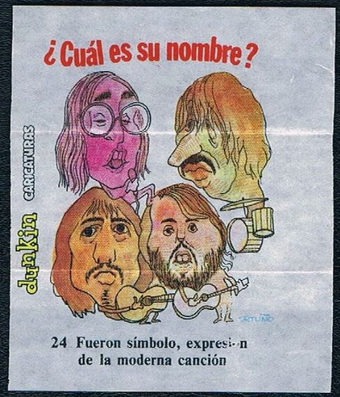 1969 Spanish Beatles Dunkin gum insert